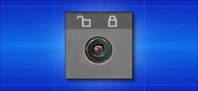 A keylock on an IBM PC Clone Case.