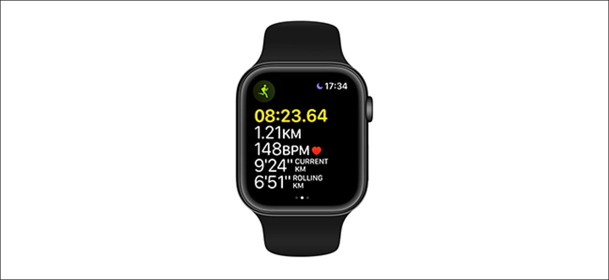 preview image showing workout metrics on an apple watch