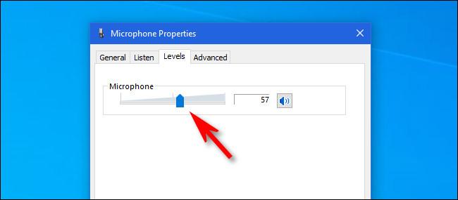Fare clic sul cursore del volume e utilizzarlo per regolare il volume di ingresso del microfono.