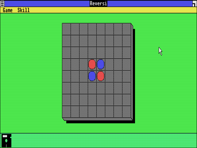 "A game of ""Reversi"" on Windows 1.0."