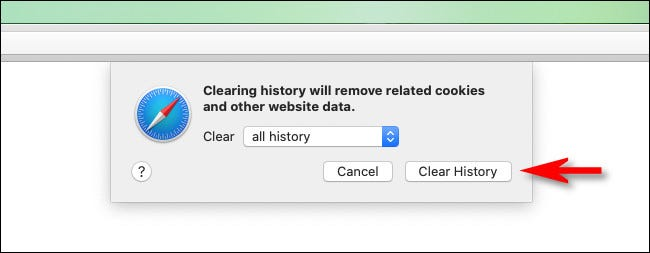 """Click """"Clear History."""""""