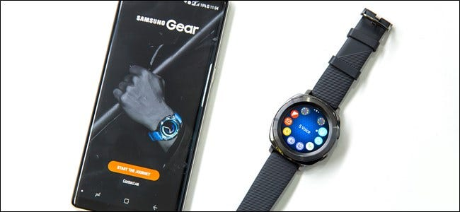 Samsung Galaxy Watch with an Android smartphone