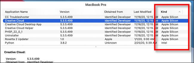 """In """"System Information"""" look for """"Apple Silicon"""" in the """"Kind"""" column."""