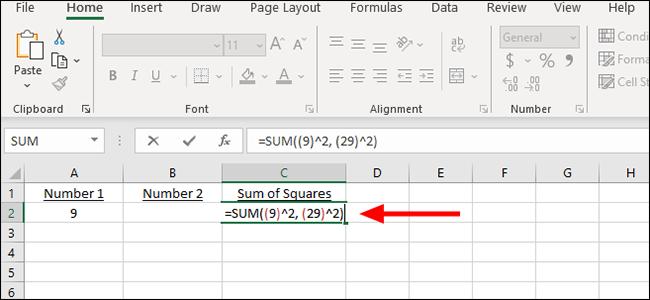 simple formula for sum of squares