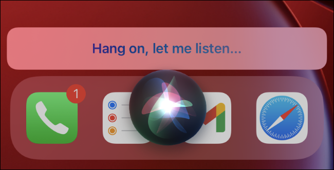 Siri listening for a song on iPhone