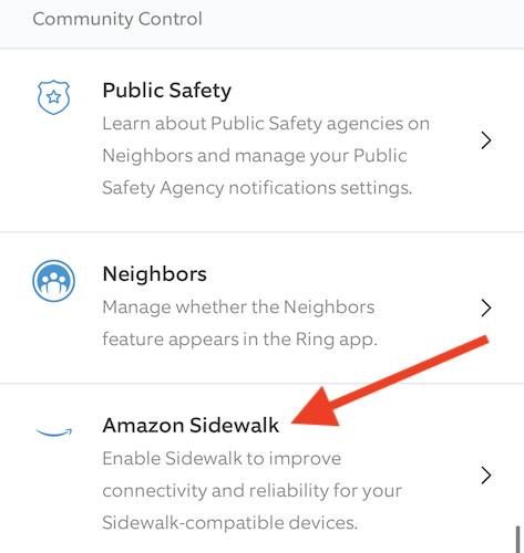 """Yap the """"Amazon Sidewalk"""" listing"""