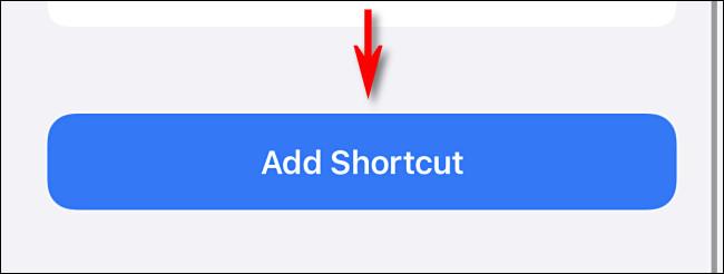 """Tap """"Add Shortcut"""""""