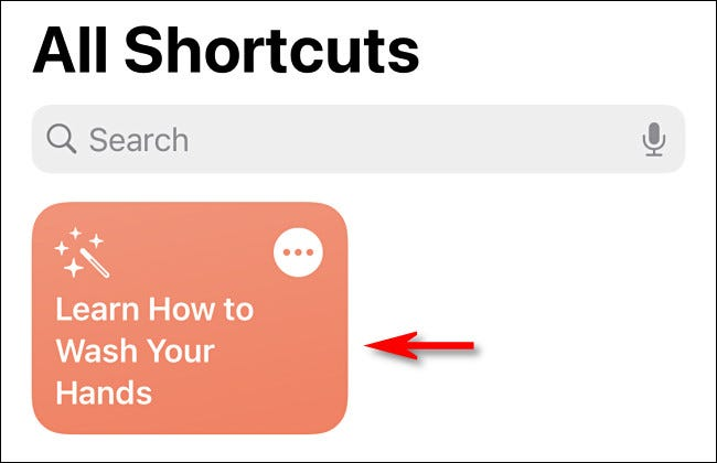 In Shortcuts on iPhone or iPad, tap the shortcut to run it.