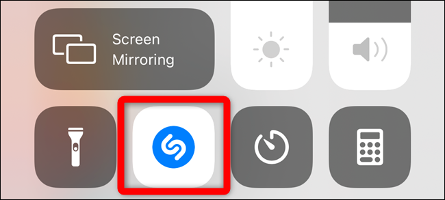 The Shazam button will light up and pulse