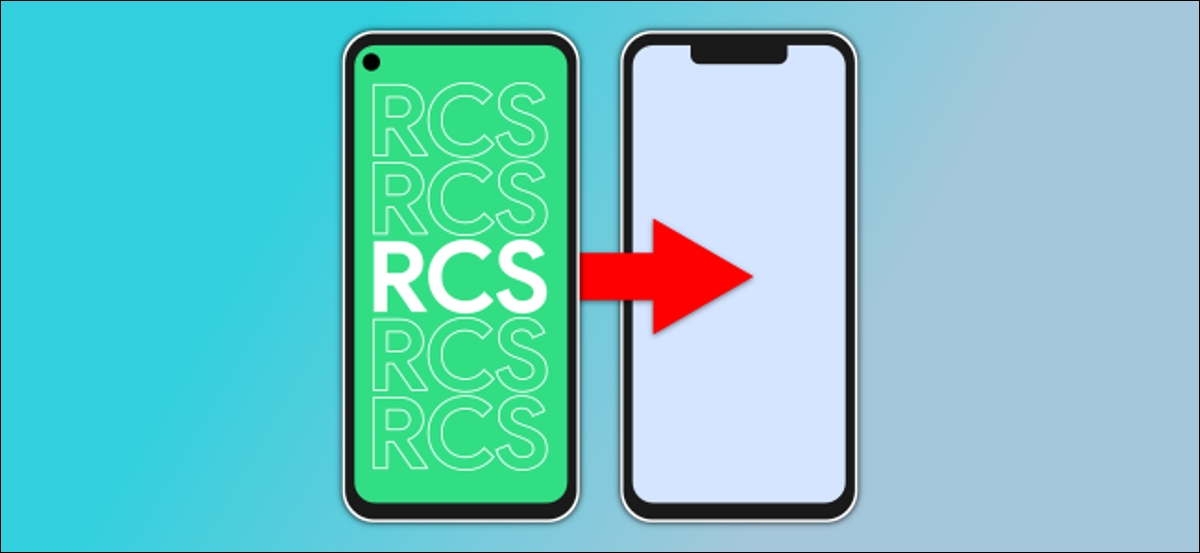 two phones, one with RCS