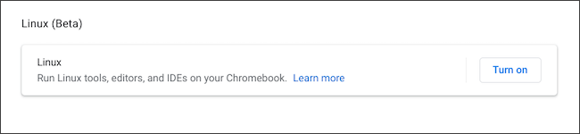 Ligue o Linux no Chromebook