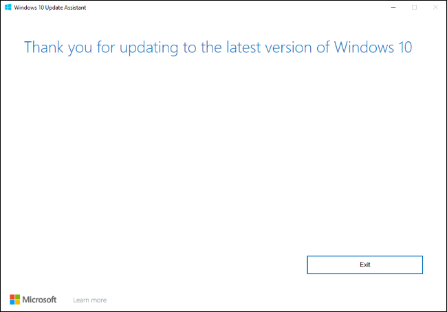 Windows 10's Update Assistant.