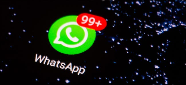 WhatsApp app with notifications