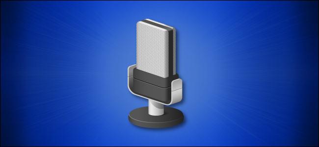 Ícone de microfone do Windows 10