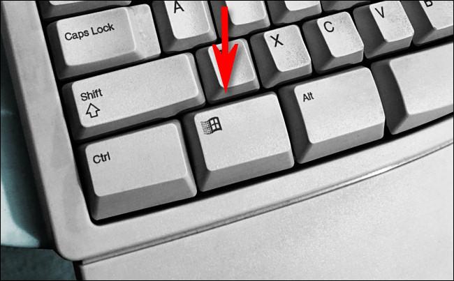 The Windows key on a Microsoft Natural Keyboard.