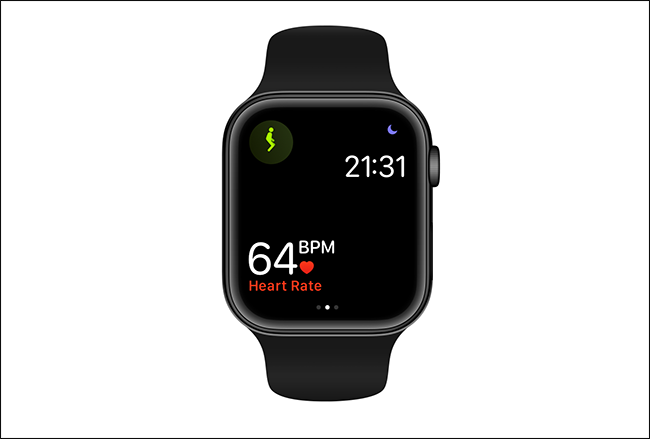 single metric view showing heart rate on apple watch