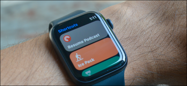 Shortcuts automations running on an Apple Watch