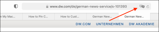 Click the Translate button in the URL bar