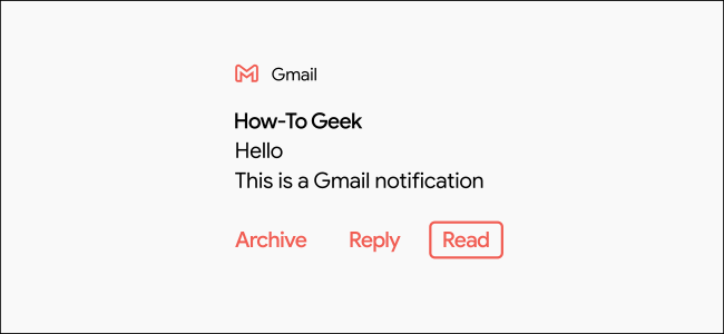 A Gmail notification highlighted