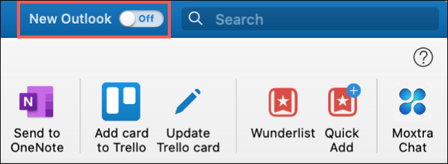Turn on the toggle for New Outlook