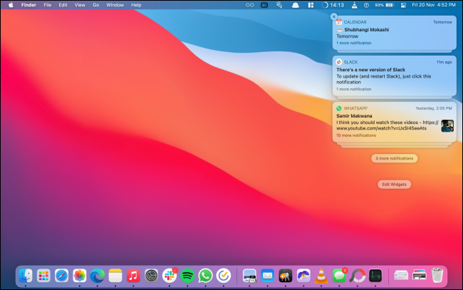 Notification Center without Widgets