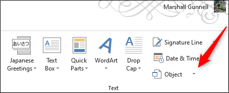 Microsoft Word: How to embed one document into another