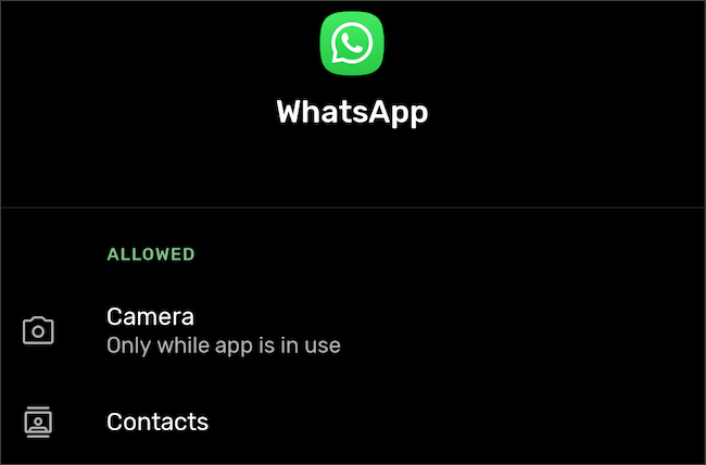 Navigate to app permissions in the Android settings