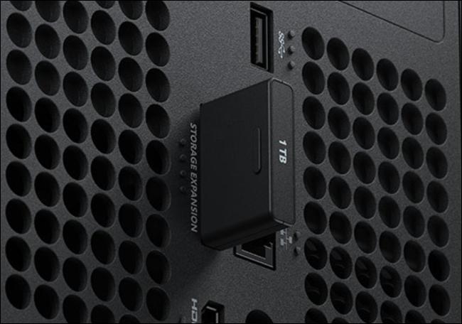 Xbox Series X storage expansion slot.