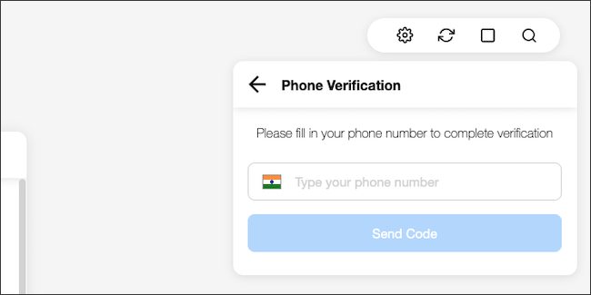 Type your WhatsApp connected phone number.
