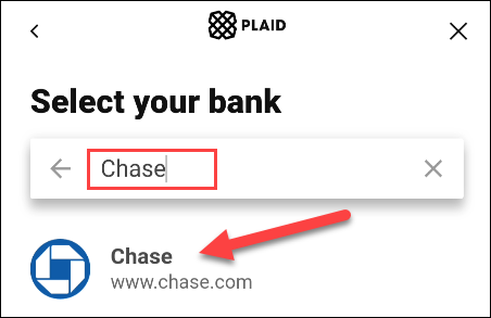 find your credit card or bank