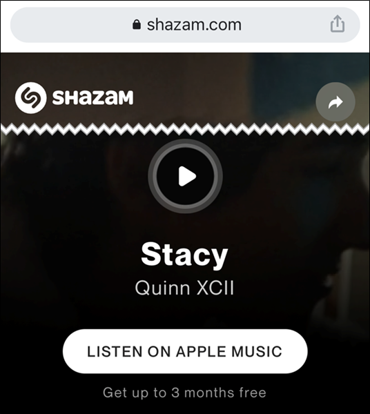 Learn more about the song on Shazam's website