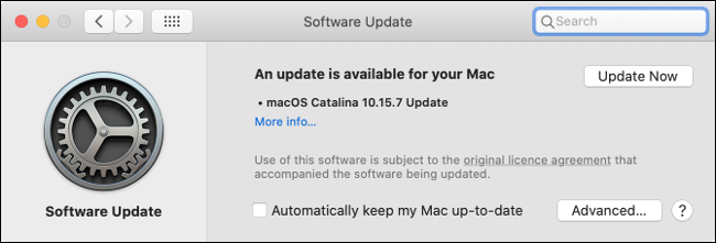 Installing Updates in macOS Catalina
