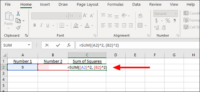 simple formula for the sum of squares