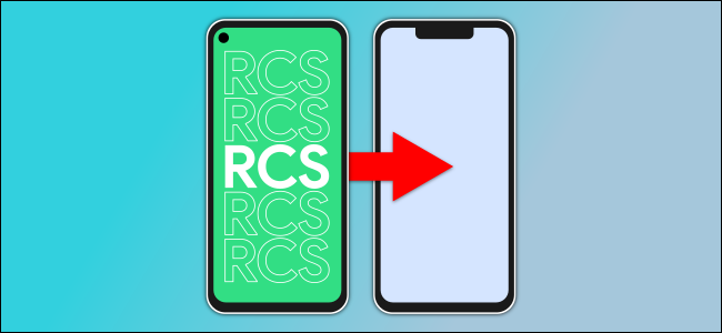 two telephones, one with RCS