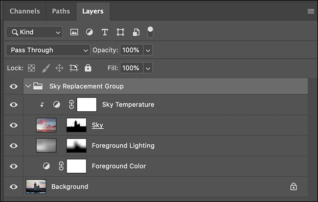sky replacement layers