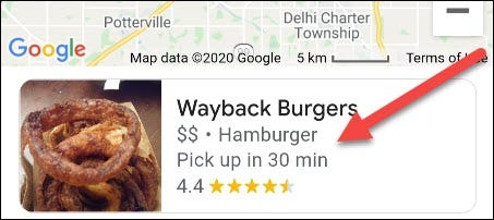 select a restaurant