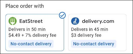 choose a delivery service