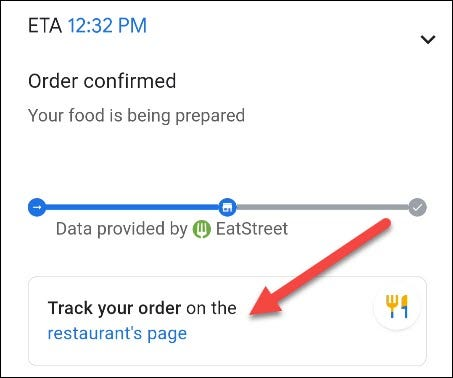 track the progress of the order