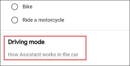 selezionare la modalità di guida