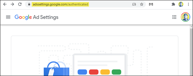 google ad settings page