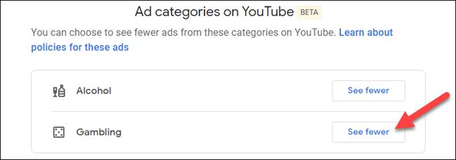 seleziona una categoria per visualizzarne meno