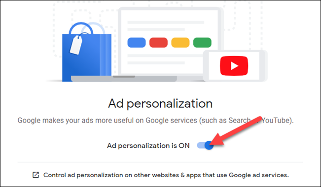 ad personalization must be turned on