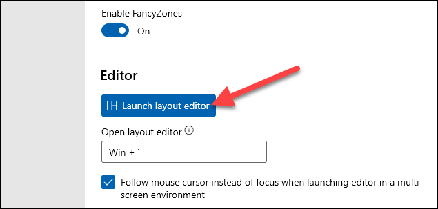 launch layout editor
