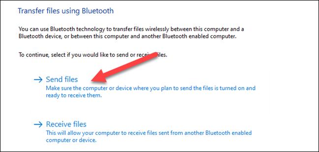 "Select ""Send Files"""