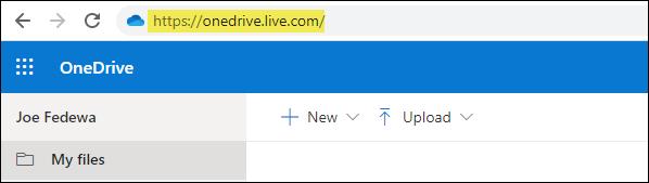 Visit the OneDrive website in a desktop browser