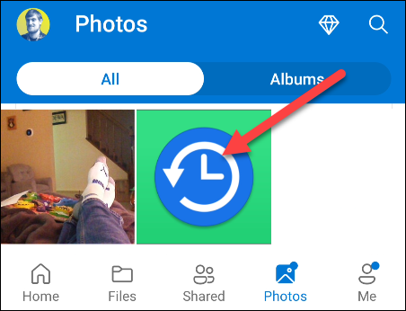 Now select the uploaded file in the OneDrive app on Android