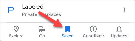 go to the Saved tab