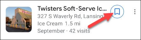 salvar localização em uma lista