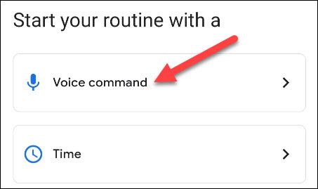 voice command starter