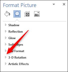 Opzione di rotazione 3D